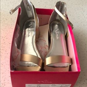 Nina Hidi shoes Rose Gold